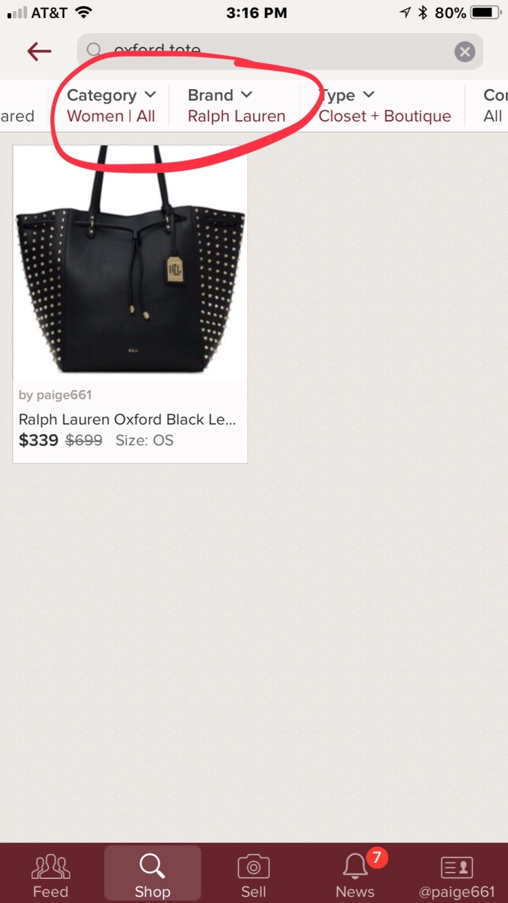 "Notice how the search engine brought me exactly what I was looking for  I m  using an example from my own closet to show how the keywording of ""Oxford  Tote"" ... dcb8aa12d0"